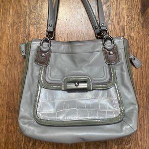 Coach Leather Grey Kristin Bag